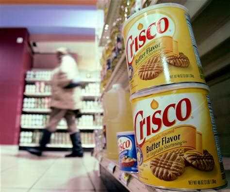 Shelf Of Crisco by No Trans In New Crisco Formula Health Diet And