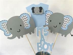 elephant themed baby shower decorations elephant baby shower centerpiece in blue and gray