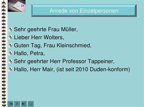 Anrede Anschreiben Profebor Doktor Schriftverkehr Und Italienisch Oktober 2010