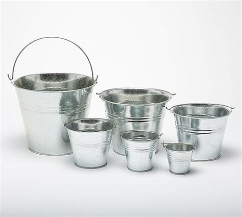 Miniatur Buket metal buckets pots mini pail tins sweet tree plant wedding favour galvanised ebay