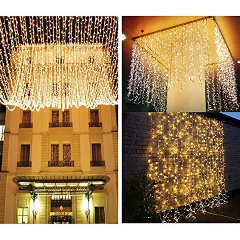 le led window curtain icicle lights 306 led 9 8ft x 9
