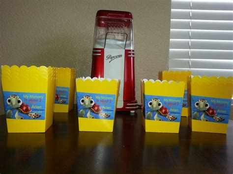 Popcorn Holders For Baby Shower by Popcorn Holders Baby Finding Nemo Baby Shower