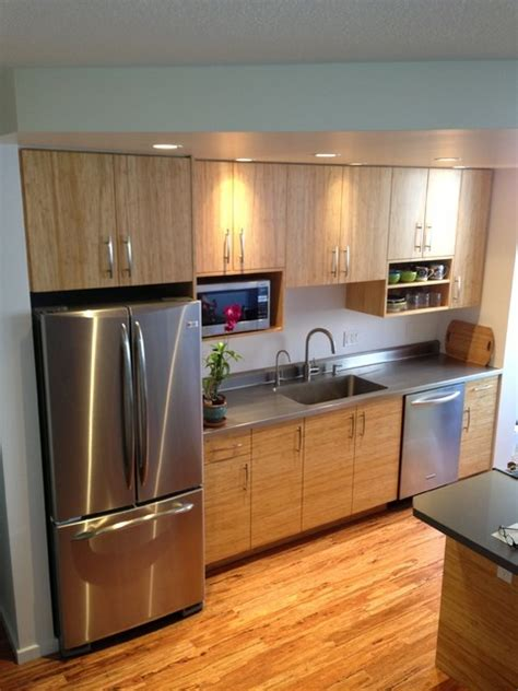 kitchen cabinets hawaii bamboo and stainless steel contemporary kitchen