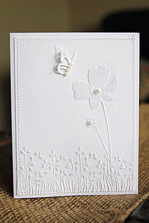 Handmade Certificates - handmade cards tutorial with white on white