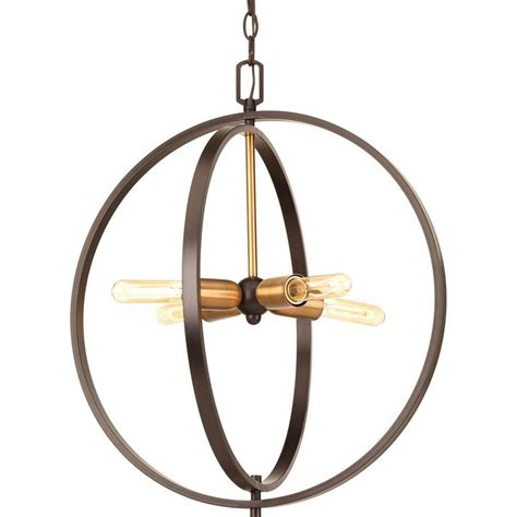 4 Light Pendant Progress Lighting Swing Collection 4 Light Antique Bronze Foyer Pendant P5190 20 The Home Depot