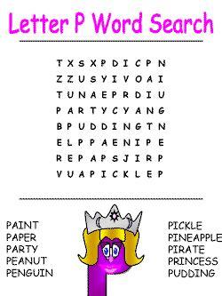 printable alphabet letter search dltk s letter p crafts for kids