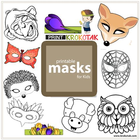 Pictures Of Christmas Party Invitations - krokotak mask printables