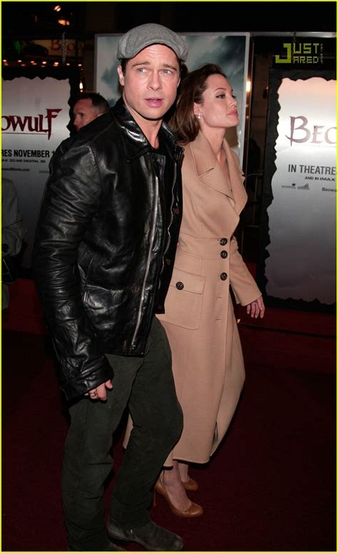 claire forlani and brad pitt relationship brad angelina beowulf premiere photo 710621