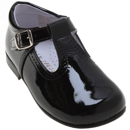 toddlers black patent t bar shoes cachet