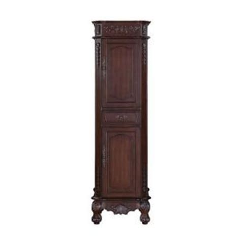Cherry Linen Cabinet by World Imports Foret 21 In W Linen Storage Cabinet