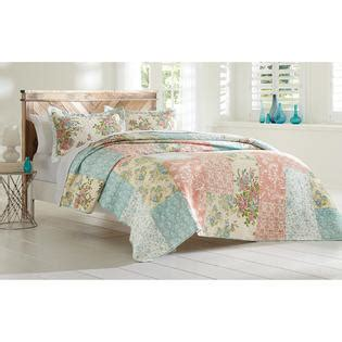 cannon bedding cannon floral block printed quilt set home bed bath
