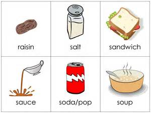 vocabulary cards food your child should q to z