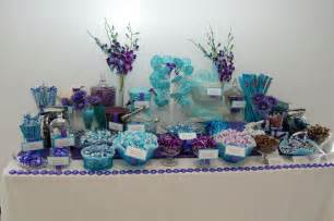 purple and blue buffet buffet table ideas wedding reception wedding reception