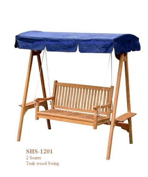teak wood swing outdoor teak wood swing shs 1201 zebano