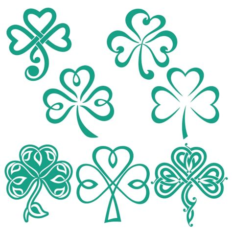 shamrock luck of the irish svg cuttable designs