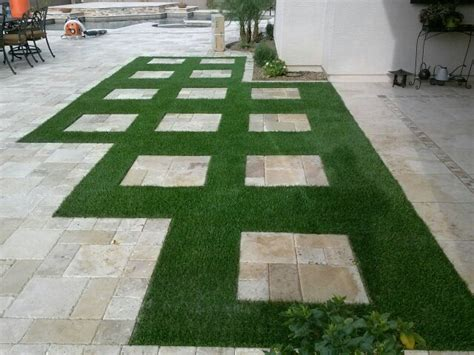 and grass patio turf and pavers us grass and greens