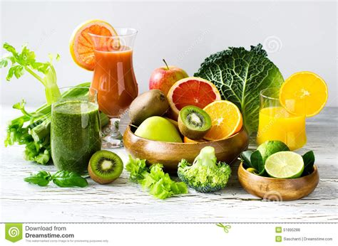 Fruit Veggie Detox Smoothies by Fresh Vitamins Citrus Juice And Smoothie With Ingredients