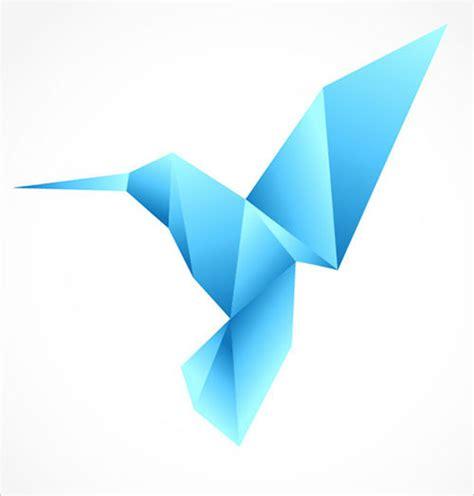 Origami Bird Logo - 50 all time best adobe illustrator tutorials for beginners