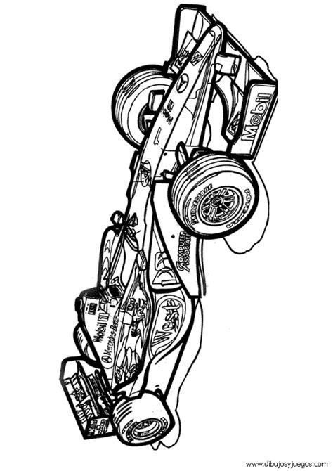 dibujo de coche de carreras f1 para colorear 006 dibujos