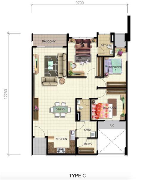 layout rumah ppa1m review for camellia park condominium butterworth propsocial