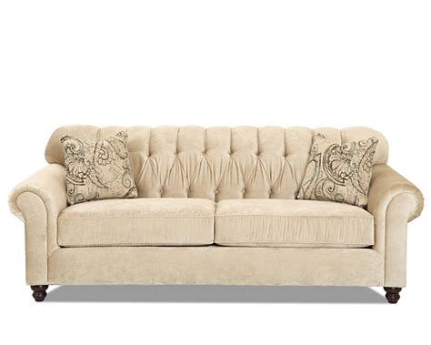 tufted nailhead sofa traditional sofa with tufted back by klaussner wolf and