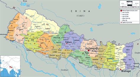 map of the city of maps of nepal detailed map of nepal in tourist