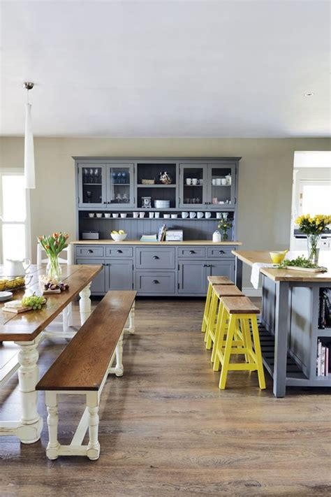 yellow and gray kitchen grey cabinets and family kitchen on pinterest