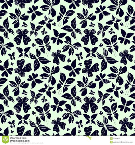 black and white butterfly pattern butterflies pattern white and black stock vector image