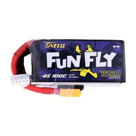 Töff Batterie by Tattu Funfly Serie 1550mah 14 8v 100c 4s1p Batterie Lipo