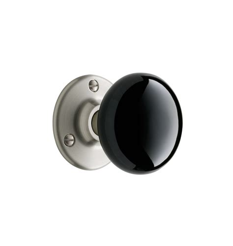 Black Interior Door Knobs by Tate Black Porcelain Knob Interior Door Set Rejuvenation