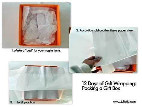 How To Fold Tissue Paper In A Box - so this is julie 187 archive 187 12 days of gift wrapping