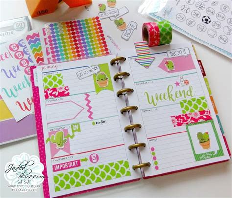 printable planner stickers for cricut the cricut bug cactus planner pages mini happy planner