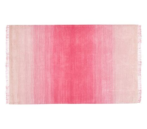 pink ombre rug ombre rug pink pottery barn