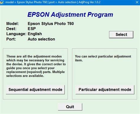 t60 resetter communication error epson t60 adjustment program epson adjustment program