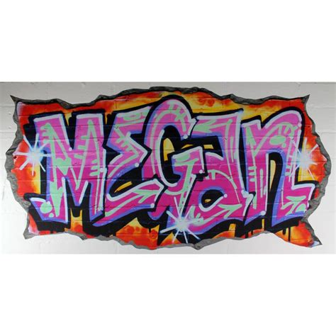 graffiti wall sticker personalised pink graffiti wall stickers by nest