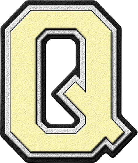 College With The Letter Q Presentation Alphabets Varsity Letter Q