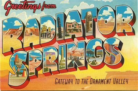 Sign Postcard radiator springs 365postcards