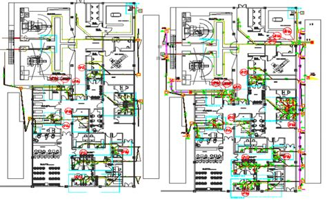 layout office dwg corporate office layout plan with electric and sanitary