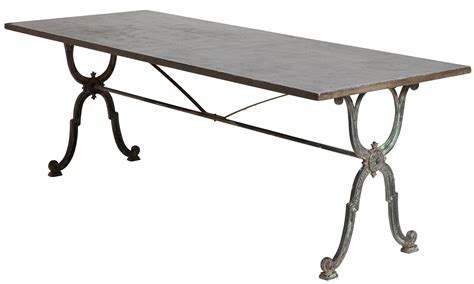 Zinc Top Bistro Table Sold A Bistro Table With Zinc Top Circa 1900
