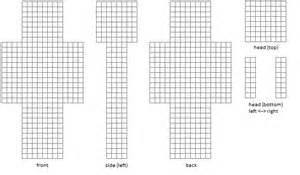minecraft skin template grid charactertemplate png minecraft ideas
