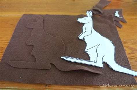 How To Make A Kangaroo Out Of Paper - how to make a felt kangaroo wildflower ramblings