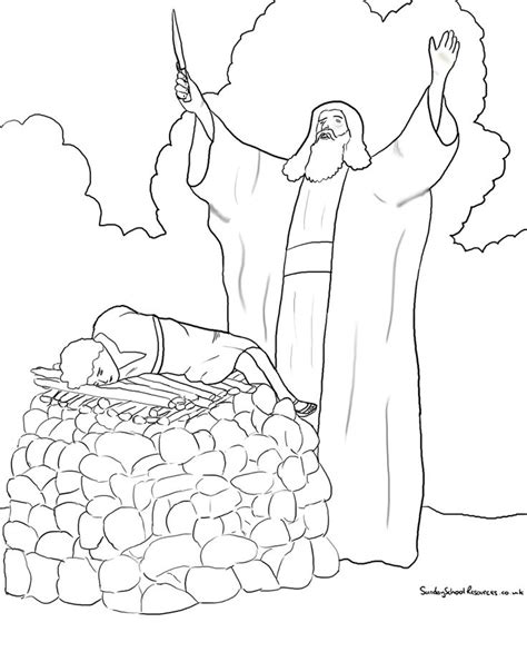 abraham sheep coloring page 20 best images about abraham isaac on pinterest