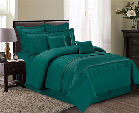 8 piece fiona green comforter set