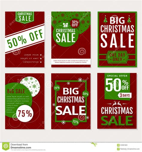 christmas sale vector banners set stock vector image