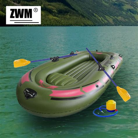 rubber boats for fishing inflatable boat portable single boat high strength pvc