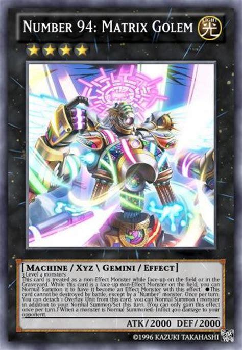 mizuno supreme gi number 94 matrix golem yu gi oh card maker wiki