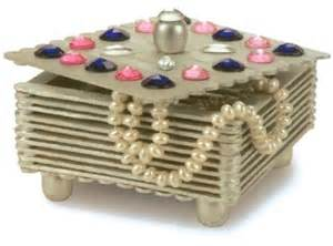 craft stick projects gemstone jewelry box project gemstone jewelry box