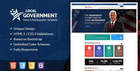 free templates for government website local government html template for town municipality