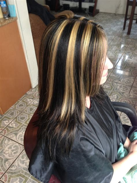 chuncky blonde highlights with brown in hair pictures for woman in 40 brown hair with chunky highlights hairtastic pinterest