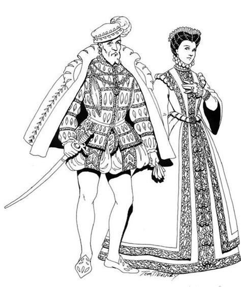 printable coloring pages renaissance renaissance costumes and clothing free printable coloring